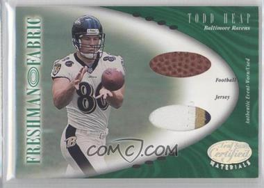 2001 Leaf Certified Materials #129 - Todd Heap /400