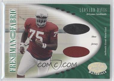2001 Leaf Certified Materials #142 - Leonard Davis /400