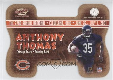 2001 Pacific Crown Royale - National Convention Cleveland Dog Bone Die-Cut #3 - Anthony Thomas Errict Rhett /1000