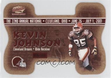 2001 Pacific Crown Royale - National Convention Cleveland Dog Bone Die-Cut #8 - Kevin Johnson, David Terrell /1000