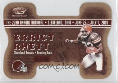 2001 Pacific Crown Royale National Convention Cleveland Dog Bone Die-Cut #3 - Anthony Thomas, Errict Rhett /1000