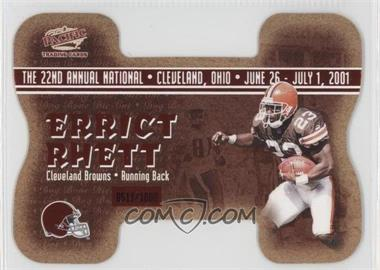 2001 Pacific Crown Royale National Convention Cleveland Dog Bone Die-Cut #3 - Anthony Thomas Errict Rhett /1000