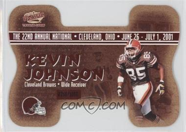 2001 Pacific Crown Royale National Convention Cleveland Dog Bone Die-Cut #8 - Kevin Johnson, David Terrell /1000