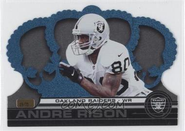 2001 Pacific Crown Royale Platinum Blue #102 - Andre Rison /75