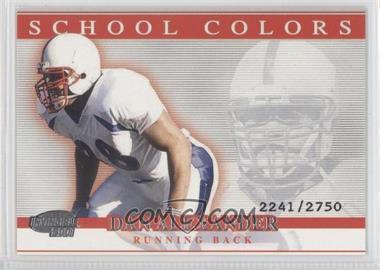 2001 Pacific Invincible - School Colors #25 - Dan Alexander /2750