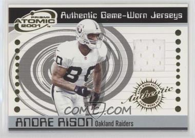 2001 Pacific Prism Atomic - Authentic Game-Worn Jerseys #67 - Andre Rison