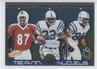 Reggie Wayne, Edgerrin James, Marvin Harrison