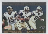 Kurt Warner, Marshall Faulk, Isaac Bruce