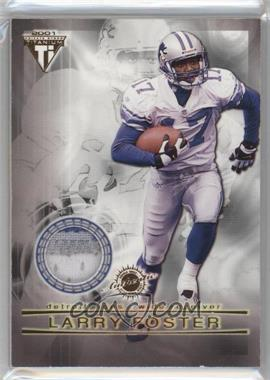 2001 Pacific Private Stock Titanium - Dual Game-Worn Jerseys #83 - Larry Foster, Allen Rossum