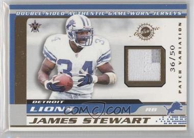 2001 Pacific Vanguard - Double-Sided Jerseys - Patches #30 - James Stewart, Larry Foster /50