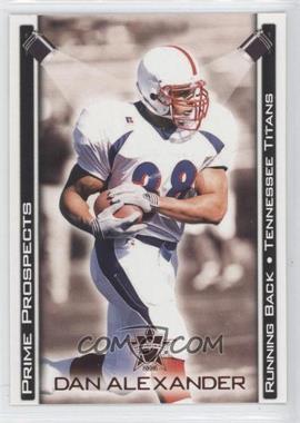 2001 Pacific Vanguard - Prime Prospects - Bronze #34 - Dan Alexander