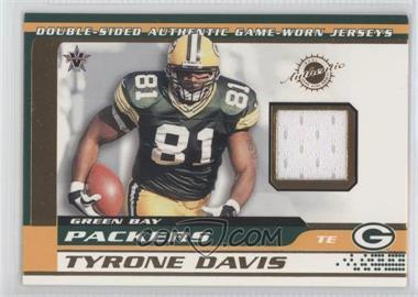 2001 Pacific Vanguard Double-Sided Jerseys #35 - Bubba Franks, Tyrone Davis