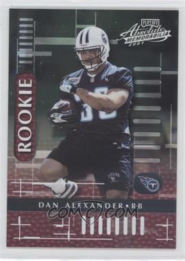 2001 Playoff Absolute Memorabilia - [Base] #114 - Dan Alexander /1750