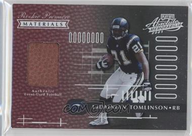 2001 Playoff Absolute Memorabilia - [Base] #158 - LaDainian Tomlinson /850