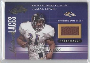 2001 Playoff Absolute Memorabilia Leather & Laces #LL43 - Jamal Lewis /275
