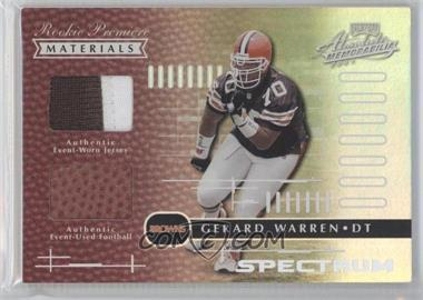2001 Playoff Absolute Memorabilia Spectrum #179 - Gerard Warren /25