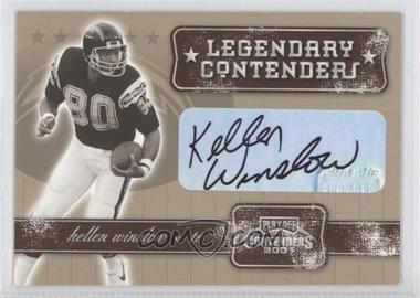 2001 Playoff Contenders Legendary Contenders Autograph [Autographed] #LC-39 - Kellen Winslow Sr.