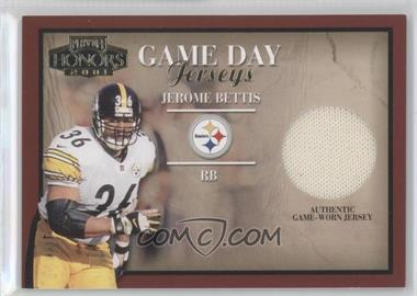 2001 Playoff Honors - Game Day Jerseys #GD-3 - Jerome Bettis