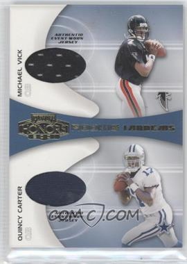 2001 Playoff Honors Rookie Tandems Jerseys [Memorabilia] #RT-1 - Michael Vick, Quincy Carter