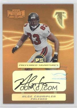 2001 Playoff Preferred Signatures Bronze #100 - Alge Crumpler