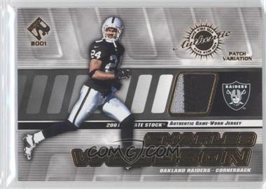2001 Private Stock - Game-Worn Gear - Patch [Memorabilia] #116 - Charles Woodson /225