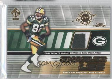 2001 Private Stock - Game-Worn Gear - Patch [Memorabilia] #62 - Charles Lee /150