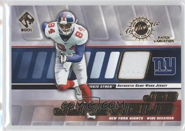 2001 Private Stock Game-Worn Gear Patch [Memorabilia] #107 - Joe Jurevicius /200