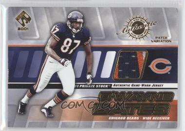 2001 Private Stock Game-Worn Gear Patch [Memorabilia] #25 - D'Wayne Bates /325