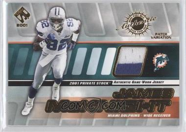 2001 Private Stock Game-Worn Gear Patch [Memorabilia] #86 - James McKnight /250