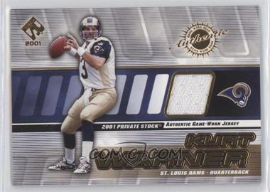 2001 Private Stock Game-Worn Gear #121 - Kurt Warner