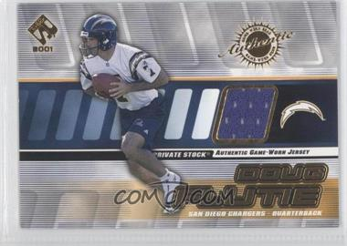 2001 Private Stock Game-Worn Gear #125 - Doug Flutie