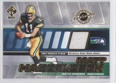 2001 Private Stock Game-Worn Gear #130 - Matt Hasselbeck