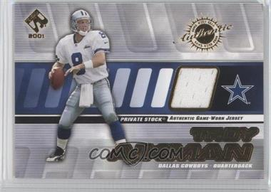 2001 Private Stock Game-Worn Gear #40 - Troy Aikman