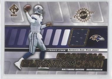 2001 Private Stock Game-Worn Gear #8 - Randall Cunningham