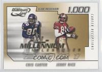 Cris Carter, Jerry Rice /1000