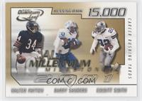 Barry Sanders, Emmitt Smith, Walter Payton /1000