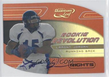 2001 Quantum Leaf Rookie Revolution Die-Cut Rights Autographs #RR-14 - LaMont Jordan /50