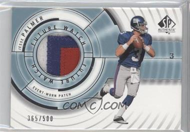 2001 SP Authentic #117 - Jesse Palmer /500