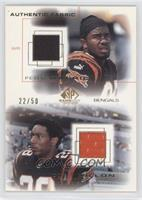 Corey Dillon, Peter Warrick /50