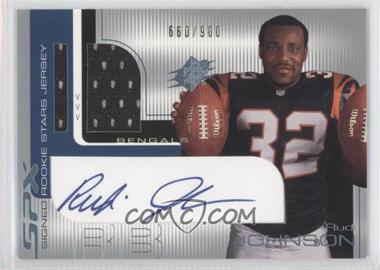 2001 SPx - [Base] #111.1 - Rudi Johnson (two balls w/ silver foil) /900