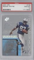 Reggie Wayne (football in left hand) /999 [PSA 10]
