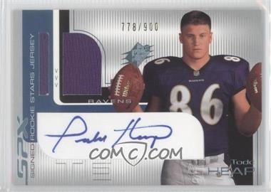2001 SPx #108.2 - Todd Heap (Two Footballs) /900