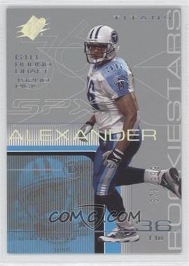 2001 SPx #130 - Dan Alexander /999