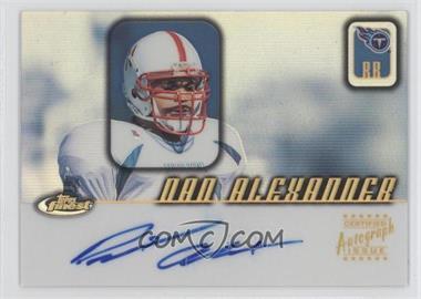 2001 Topps Finest - Autographs #FA-DA - Dan Alexander