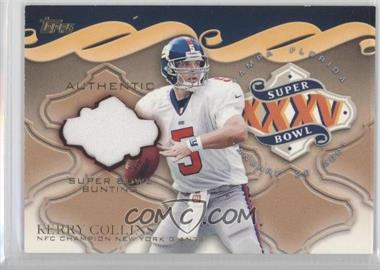 2001 Topps Super Bowl Bunting #SBB1 - Kerry Collins