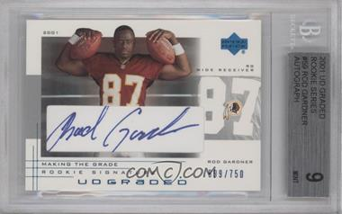 2001 UD Graded - [Base] - Making the Grade Rookie Signature #59 - Rod Gardner /750 [BGS9]