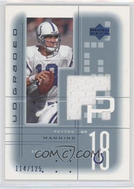 2001 UD Graded Game Jerseys Blue #PM - Peyton Manning /125