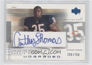 2001 UD Graded Making the Grade Rookie Signature #57 - Anthony Thomas /750