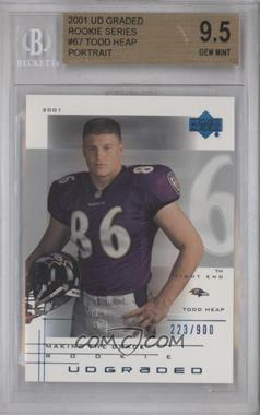 2001 UD Graded #67 - Todd Heap /900 [BGS 9.5]