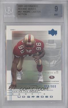 2001 UD Graded #87 - Andre Carter /900 [BGS 9]